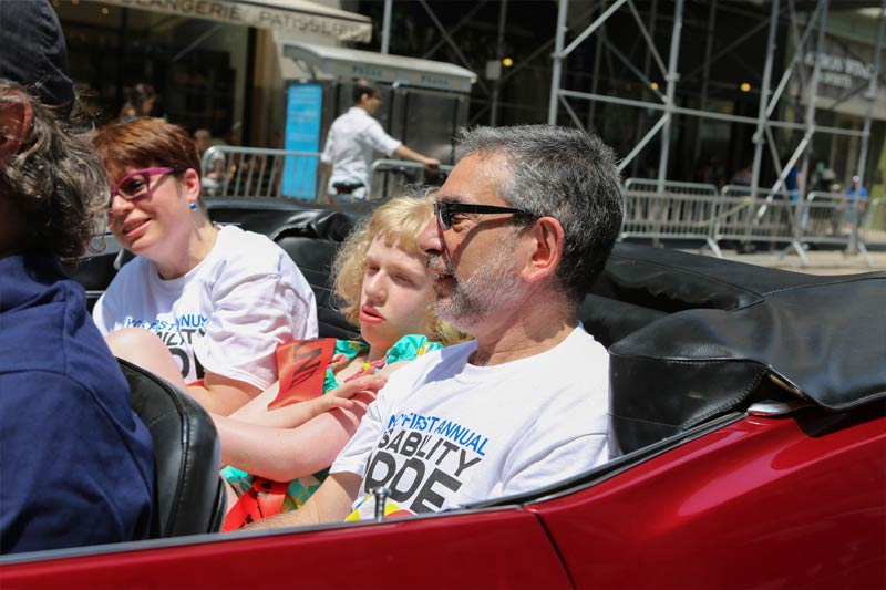 Mike and Mary LeDonne in the first annual disability pride parade