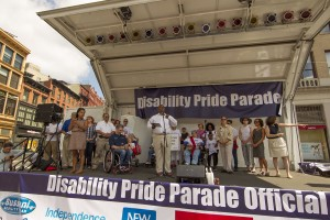 Deputy mayour buery speaks - Disability Pride Parade Photo