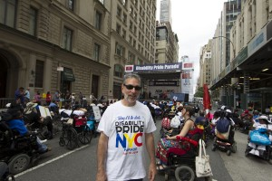 mike ledonne at the end of the day - Disability Pride Parade Photo