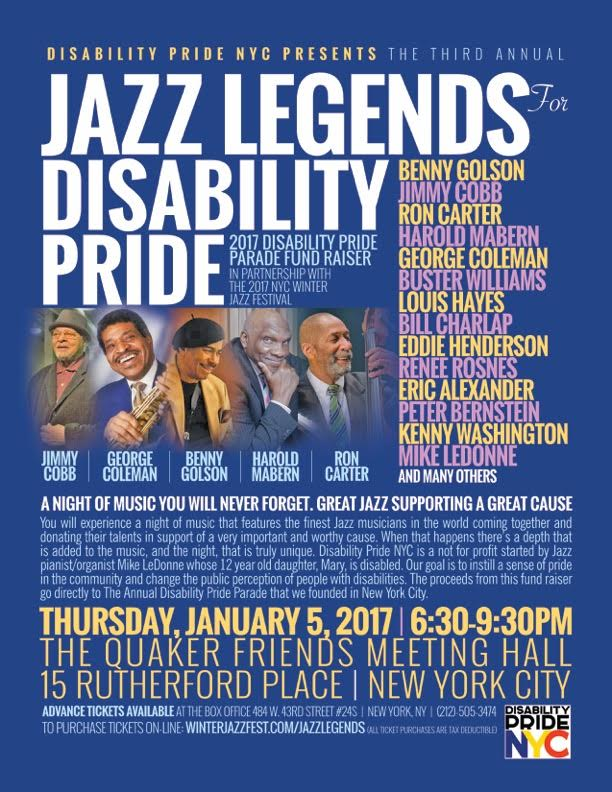 Poster for Jazz Legends for Disability Pride