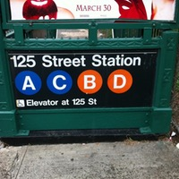 125th street subway entrance