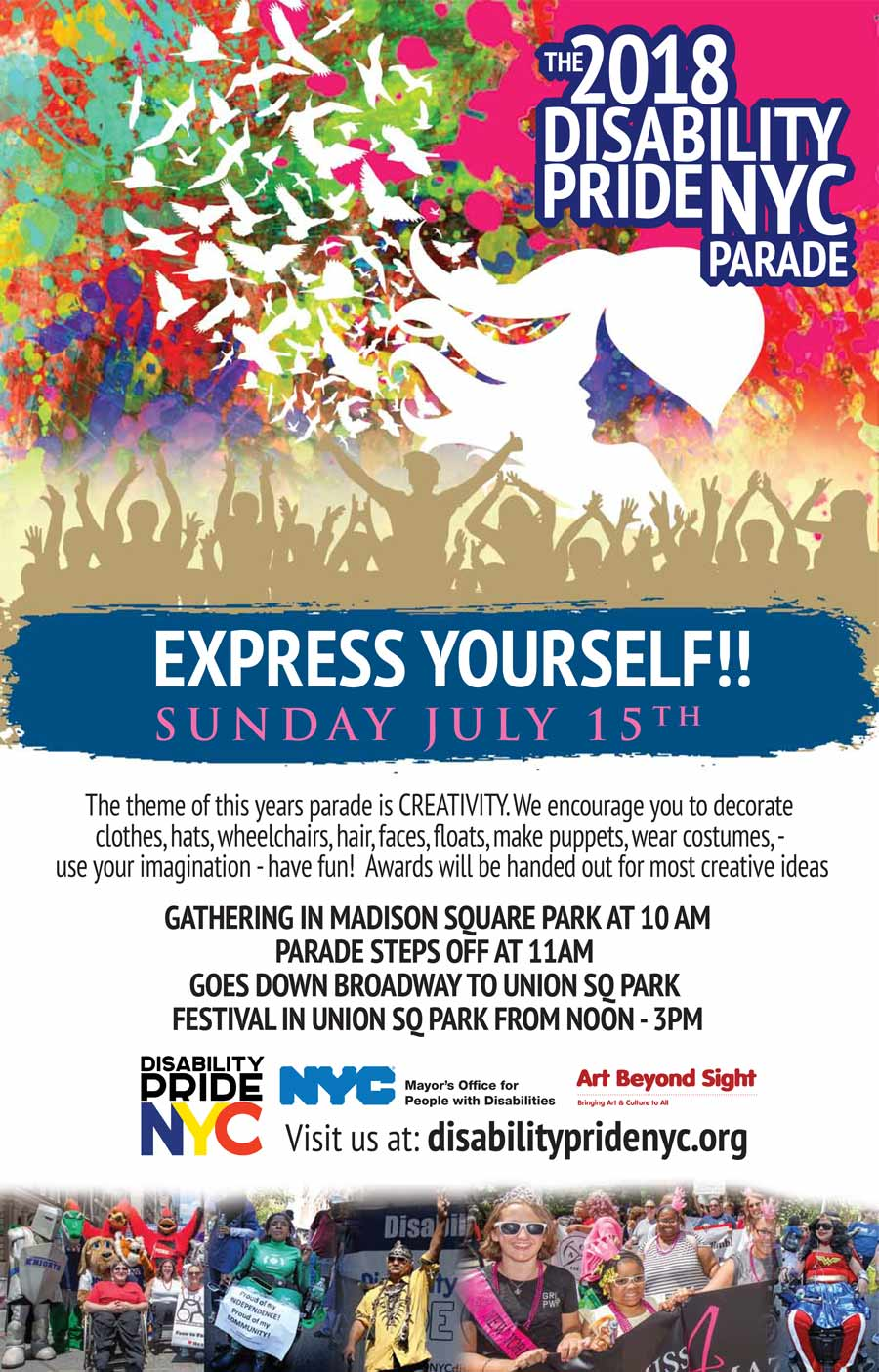 disability pride parade poster