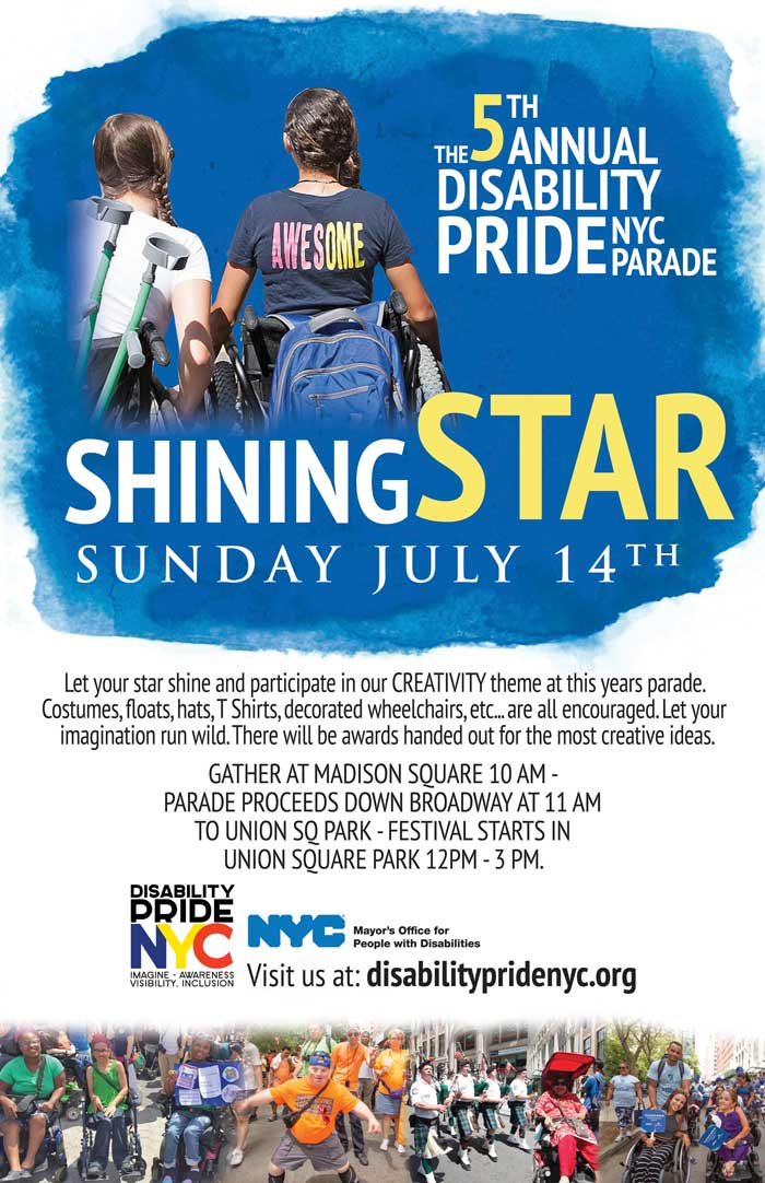 new york city disability pride parade 2019 poster